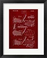 Framed Golf Club Patent - Burgundy