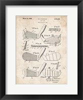 Framed Golf Club Patent - Vintage Parchment
