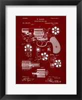 Framed Revolving Fire Arm Patent - Burgundy