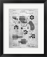 Framed Revolving Fire Arm Patent - Slate