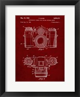 Framed Photographic Camera With Coupled Exposure Meter Patent - Burgundy