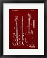 Framed Guitar Patent - Burgundy