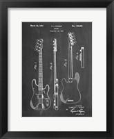 Framed Guitar Patent - Chalkboard