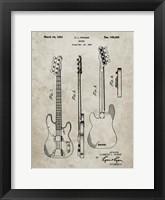 Framed Guitar Patent - Sandstone