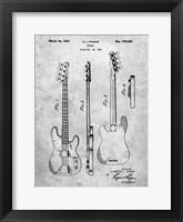 Framed Guitar Patent - Slate