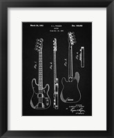 Framed Guitar Patent - Vintage Black