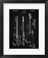 Framed Guitar Patent - Vintage Black