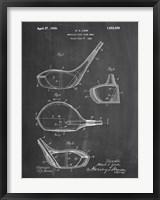 Framed Metallic Golf Club Head Patent - Chalkboard