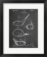 Framed Metallic Golf Club Head Patent - Chalkboard