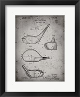 Framed Metallic Golf Club Head Patent - Faded Grey