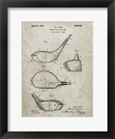 Framed Metallic Golf Club Head Patent - Sandstone