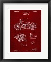 Framed Cycle Support Patent - Burgundy