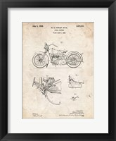 Framed Cycle Support Patent - Vintage Parchment