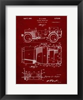 Framed Military Vehicle Body Patent - Burgundy
