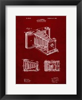 Framed Photographic Camera Patent - Burgundy