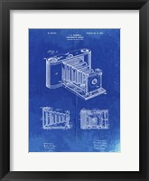 Framed Photographic Camera Patent - Faded Blueprint