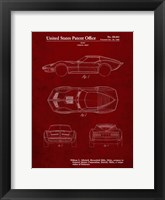 Framed Vehicle Body Patent - Burgundy