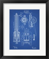 Framed Machine Gun Patent - Blueprint