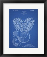 Framed Engine Patent - Blueprint