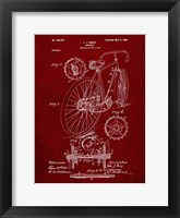 Framed Bicycle Patent - Burgundy
