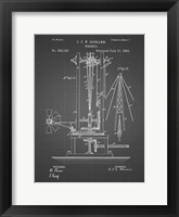 Framed Windmill Patent - Black Grid