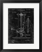Framed Windmill Patent - Black Grunge