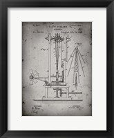 Framed Windmill Patent - Faded Grey