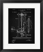 Framed Windmill Patent - Vintage Black
