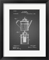 Framed Coffee Percolator Patent - Black Grid