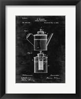 Framed Coffee Percolator Patent - Black Grunge