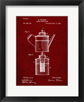 Framed Coffee Percolator Patent - Burgundy