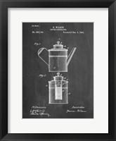 Framed Coffee Percolator Patent - Chalkboard