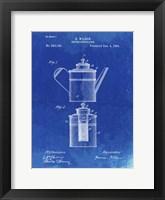 Framed Coffee Percolator Patent - Faded Blueprint
