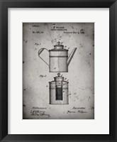 Framed Coffee Percolator Patent - Faded Grey