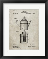 Framed Coffee Percolator Patent - Sandstone