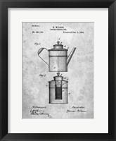 Framed Coffee Percolator Patent - Slate