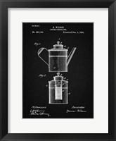 Framed Coffee Percolator Patent - Vintage Black
