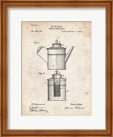 Framed Coffee Percolator Patent - Vintage Parchment