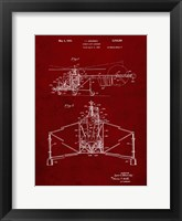 Framed Direct-Lift Aircraft Patent - Burgundy