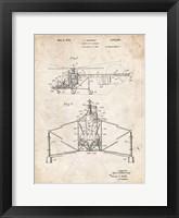 Framed Direct-Lift Aircraft Patent - Vintage Parchment