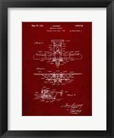 Framed Amphibian Aircraft Patent - Burgundy