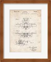 Framed Amphibian Aircraft Patent - Vintage Parchment