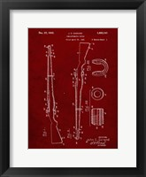 Framed Semi-Automatic Rifle Patent - Burgundy