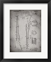 Framed Semi-Automatic Rifle Patent - Faded Grey