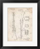 Framed Semi-Automatic Rifle Patent - Vintage Parchment