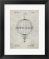 Framed Balloon Patent - Antique Grid Parchment