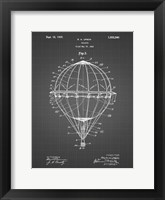 Framed Balloon Patent - Black Grid
