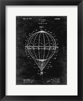 Framed Balloon Patent - Black Grunge