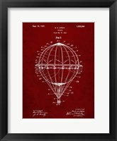 Framed Balloon Patent - Burgundy
