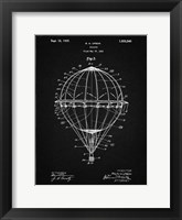 Framed Balloon Patent - Vintage Black